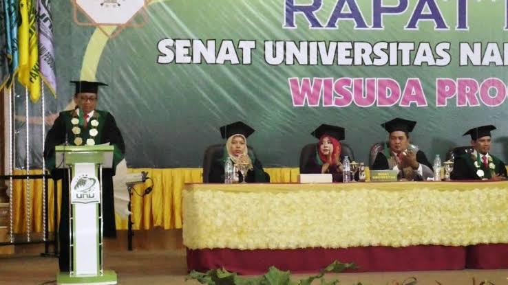 Rektor Unusida Dr H. Fatkul Anam MSi saat menggelar agenda wisuda.(Foto: Unusida/Tugu Jatim)