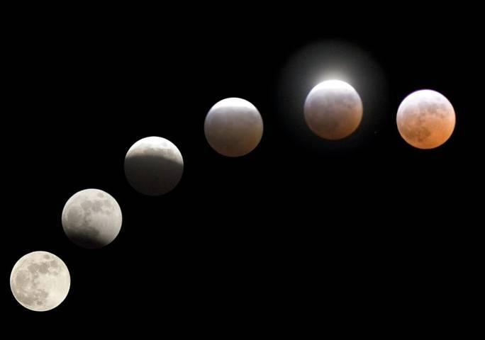 Ilustrasi gerhana bulan. (Foto: Pixabay) tugujatim