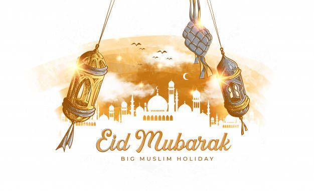 Ilustrasi ucapan selama Lebaran Hari Raya Idul Fitri 1442 H. (Foto: Freepik) unik, kreatif