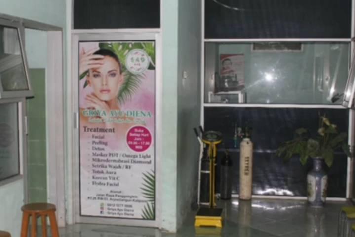 Tampilan Klinik Bunga Husada di Kalipare, Kabupaten Malang yang dikelola oleh Eva Sofiana Wijayanti. (Foto: Rizal Adhi Pratama/Tugu Malang/Tugu Jatim)