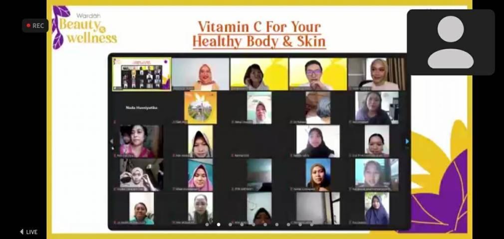 Acara Wardah Beauty and Wellness yang bertemakan Vitamin C for Your Healthy Body and Skin, Minggu (02/05/2021). (Foto: Dokumen/Tugu Malang/Tugu Jatim)