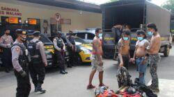 Para anjal di Kepanjen yang diamankan petugas Polres Malang. (Foto: Rap/Tugu Jatim)