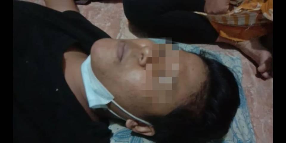Tangkapan layar calon TKW BLK PT CKS di Malang usai dievakuasi warga usai terjatuh dari atas gedung lantai 4. (Foto: Istimewa/Tugu Jatim)