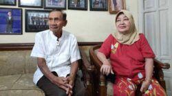 Pasangan CJH tertua asal Kota Malang, Sadhi Budiono bin Torejo, 78; dan Sri Wardhani, 64. (Foto:Azmy/ Tugu Jatim)