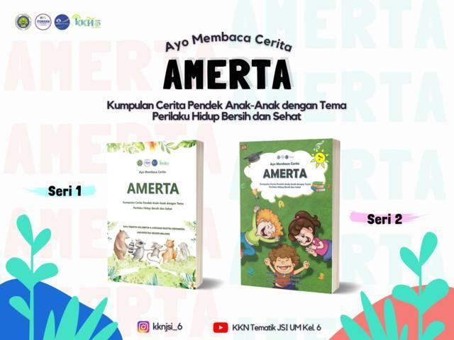 Dua buku AMERTA yang disusun oleh para mahasiswa Universitas Negeri Malang (UM). (Foto: Dokumen)