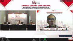 Pakar Komunikasi dan Motivator Nasional Dr Aqua Dwipayana ketika mengisi Sharing Focus Group Discussion (FGD) OJK, Kamis (10/6/2021). (Foto: Dokumen)