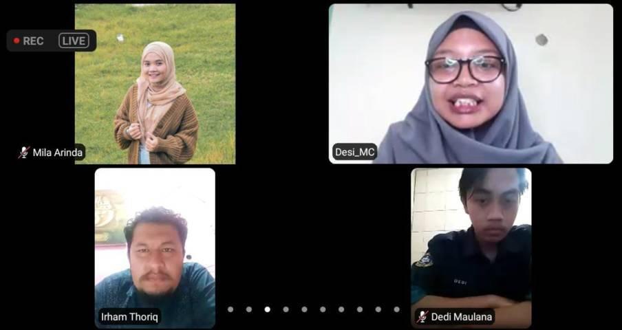 Pelatihan jurnalistik oleh Pondok Inspirasi bersama Garuda Literasi dan Tugu Media Group yang diadakan untuk mahasiswa se-Indonesia pada Sabtu (12/06/2021) melalui Zoom Meeting. (Foto: Mila Arinda/Tugu Jatim)