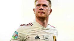 Pemain Belgia, Kevin De Bruyne saat berselebrasi usai membobol gawang Denmark pada laga Denmark vs Belgia di ajang Euro 2020, Kamis (17/6/2021). (Foto: Instagram/belgianreddevils)