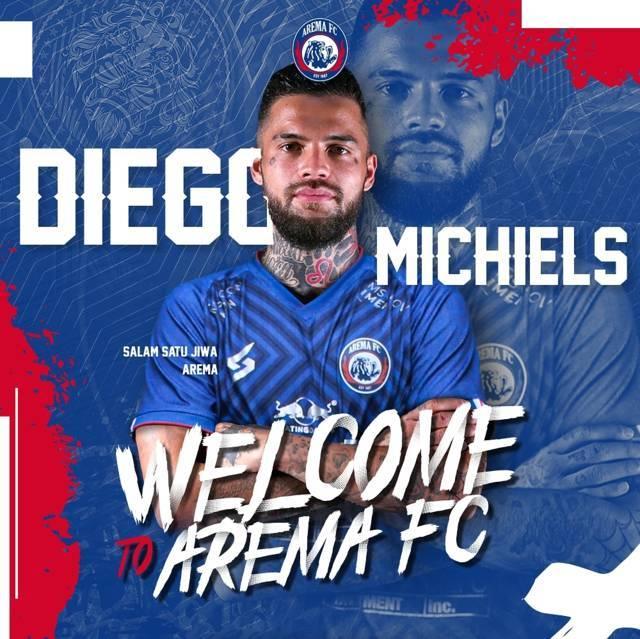Diego Michels yang resmi didatangkan oleh manajemen Arema FC. (Foto: Instagram/Arema FC Official)