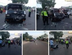 Sopir Ngantuk, Mobil Pick Up di Tuban Tabrak 2 Pengendara Motor hingga Luka-Luka