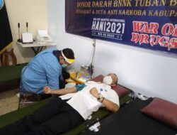Peringati Hari Anti Narkoba Internasional, BNNK Tuban Gelar Donor Darah
