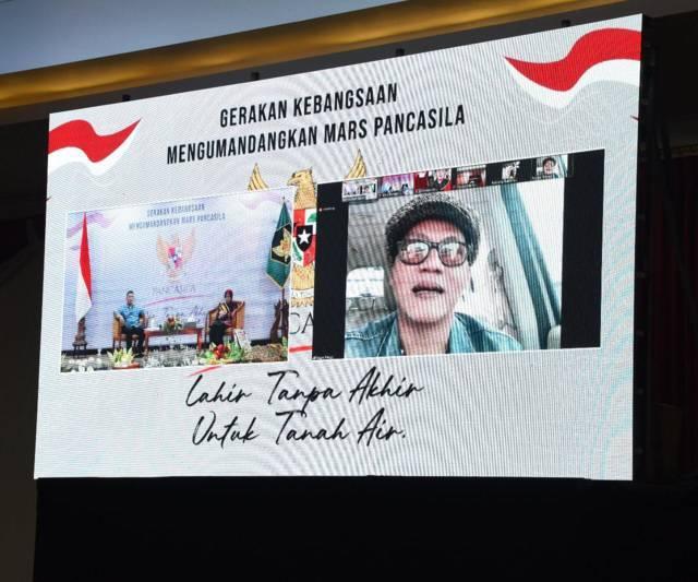Mars Pancasila atau Garuda Pancasila yang bakal dinyanyikan setiap hari di Kota Kediri sebagai wujud untuk perkuat nasionalisme. (Foto: Rino Hayyu/Tugu Jatim)