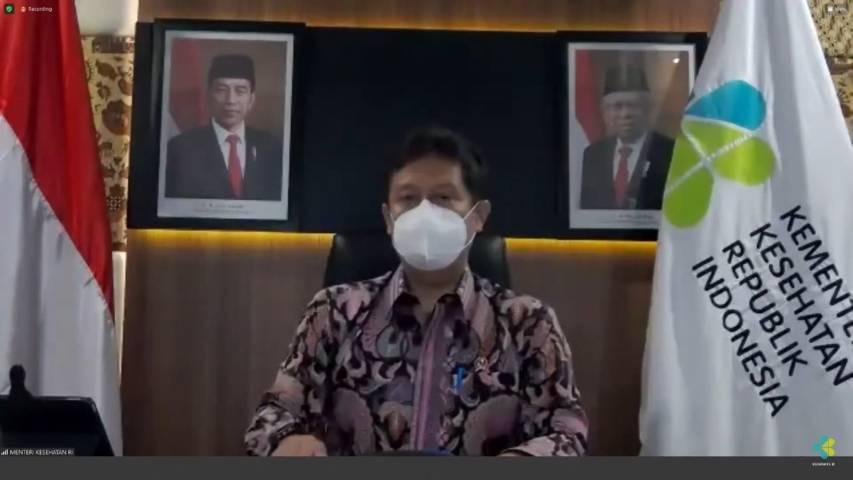 Kemenkes RI melalui Menteri Kesehatan (Menkes) Budi Gunadi Sadikin saat konferensi pers virtual mengenai penyediaan layanan kesehatan dan obat gratis kepada masyarakat yang sedang isolasi mandiri (isoman), Senin (05/07/2021). (Foto: Kemenkes/Tugu Jatim)