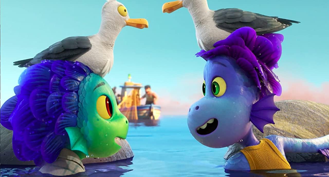 Salah satu adegan laut film animasi Luca/tugu jatim