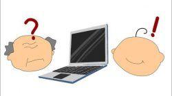 Ilustrasi lansia di Jepang yang mengikuti perkembangan digital. (Foto: Fahra Auliani Rahmah/Tugu Jatim)