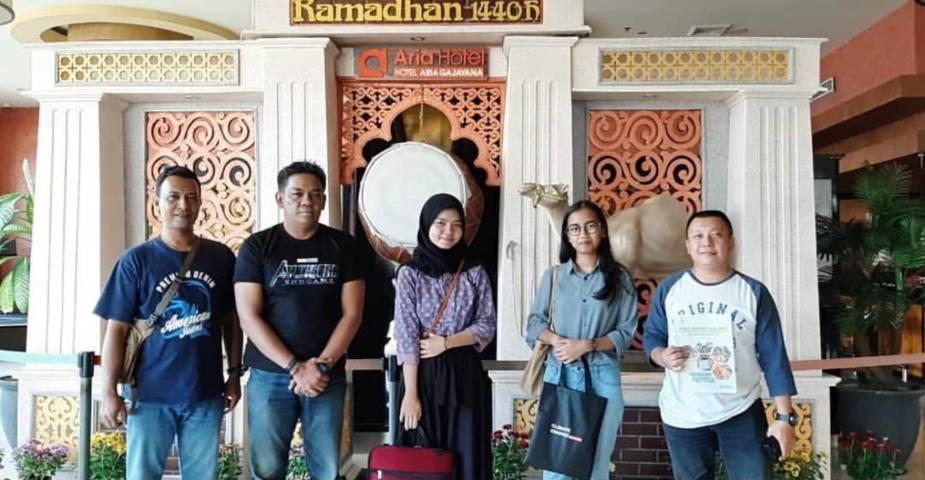 CCF bersama AIESEC Universitas Brawijaya di Aria Hotel Malang.(Foto: Dokumen/Tugu Jatim)