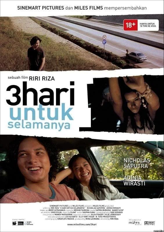 Poster 3 Hari untuk Selamanya (2007). (Foto: IMDB/Tugu Jatim)