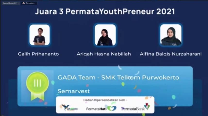 Pemenang Kompetisi PermataYouthPreneur 2021 Mewakili SMA dan SMK Se-Indonesia. (Foto: Mila Arinda/Tugu Jatim)