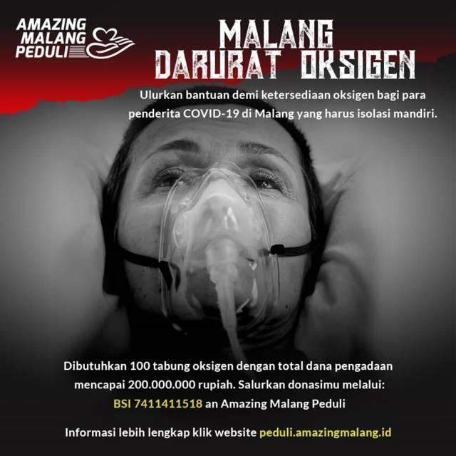 Poster gerakan yang dilakukan Amazing Malang Peduli. (Foto: Dokumen/Tugu Jatim)