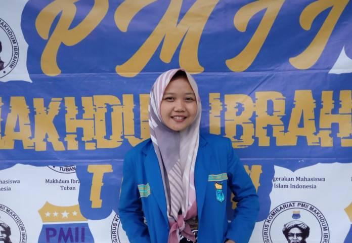 Ketua Umum Pergerakan Mahasiswa Islam Indonesia (PMII) Kabupaten Tuban Khoirukum Mimmuaini. (Foto: Biro Informasi dan Media PC PMII Tuban/Tugu Jatim)