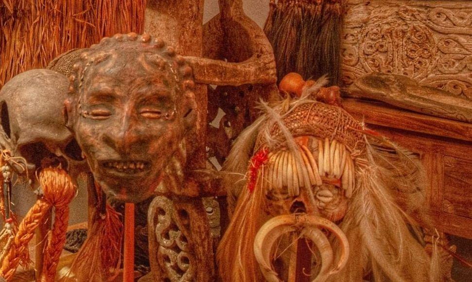 Salah satu sudut budaya papua di museum Jerman/tugu jatim