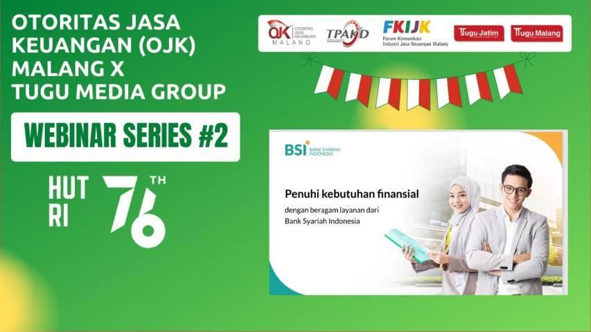 Salah satu matri dalam Webinar Series #2 yang digelar Otoritas Jasa Keuangan (OJK) Malang berkolaborasi dengan Tugu Media Group, Kamis (29/07/2021).(Foto: M.Sholeh/Tugu Jatim)