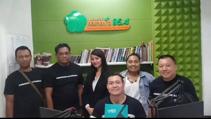 Founder CCF Baskoro talk Show bersama 101 Hotel Malang di Kosmonita FM. (Foto: Dokumen/Tugu Jatim)