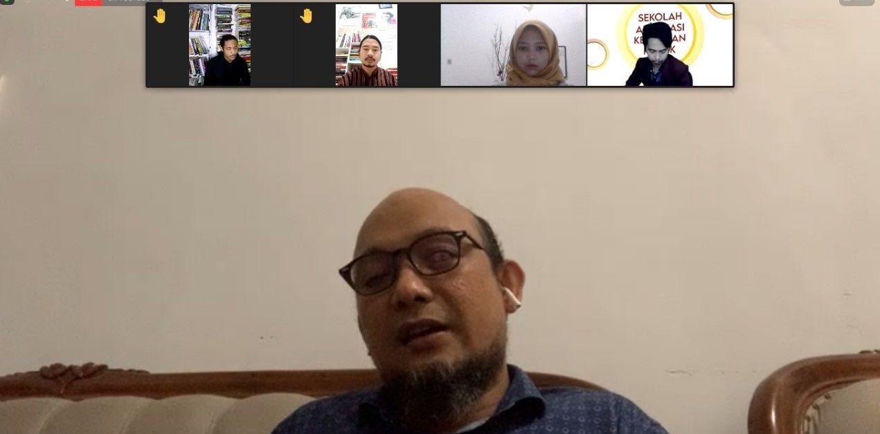 Novel Baswedan menyampaikan pandangannya dalam acara SAKP IMM Malang Raya/tugu jatim