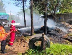 Tumpukan Ban Bekas di Sugihwaras Tuban Terbakar, Pemilik Tambal Ban Panik