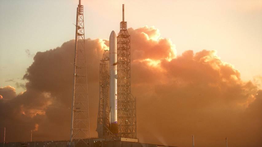 Roket milik perusahaan antariksa Amerika Serikat, Blue Origin. Perusahaan milik miliuner dunia, Jeff Bezos. (Foto: Dokumen/Blue Origin)
