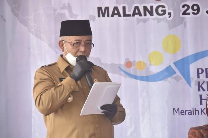 Bupati Malang, Sanusi menegaskan bahwa pihaknya siap jika PPKM Darurat harus berjalan selama 6 minggu. (Foto: Rizal Adhi/Tugu Malang/Tugu Jatim)