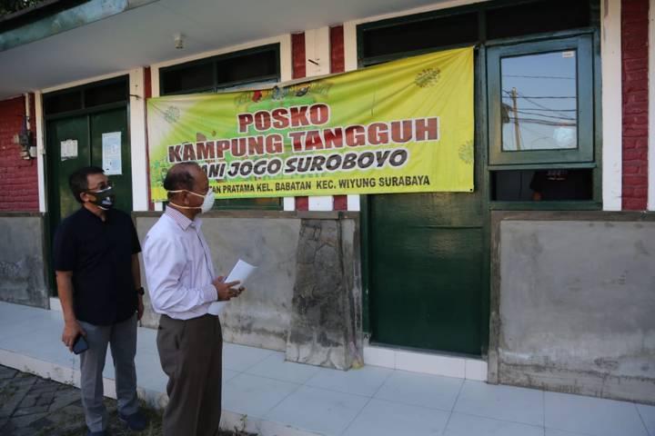 Balai RW 8 Perum Babatan Pratama, Kelurahan Babatan, Kecamatan Wiyung, Kota Surabaya, juga menyediakan tempat isoman untuk warga terkonfirmasi positif Covid-19. (Foto: Pemkot Surabaya/Tugu Jatim)