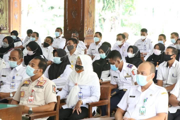 Acara kenaikan pangkat kepada 486 ASN di Bojonegoro, 9 Juni 2021. (Foto : Humas Pemkab Bojonegoro/ Mila Arinda/ Tugu Jatim) pendaftaran cpns diperpanjang tugu jatim