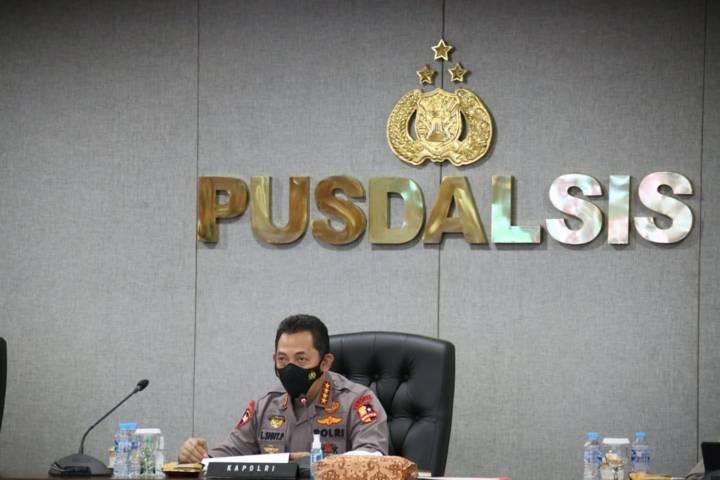 Kapolri Jenderal Listyo Sigit Prabowo menginstruksikan kepada seluruh jajaran kepolisian untuk melakukan pendampingan percepatan penyerapan anggaran penanggulangan pandemi Covid-19. (Foto: Polrestabes Surabaya/Tugu Jatim)