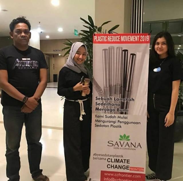 CCF bersama Bye Bye Plastic Bags Malang di Savana Hotel Malang.(Foto: Dokumen/Tugu Jatim)