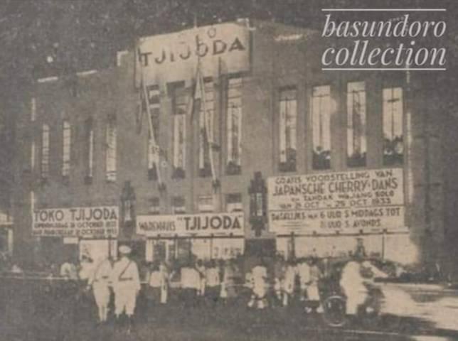 Potret Toko Ciyoda (Toko Tjijoda) dibuka kali pertama kali pada 29 Oktober 1933 di Jalan Tunjungan Nomor 5 (yang sekarang menjadi Jalan Genteng Kali Nomor 5) Kota Surabaya. (Foto: Dok Prof Dr Purnawan Basundoro SS MHum/Tugu Jatim)