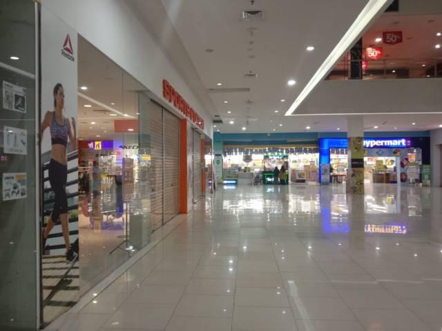 Tampak hanya Hypermart yang beroperasional di Lippo Plaza Mall Batu. (Foto: Sholeh/Tugu Jatim)
