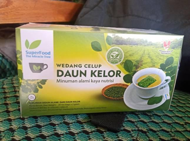 Produk Wedang Celup Daun Kelor milik Anita Wahyu Deviani, perempuan asal Kecamatan Padangan kabupaten Bojonegoro. (Foto : Mila Arinda/ Tugu Jatim)
