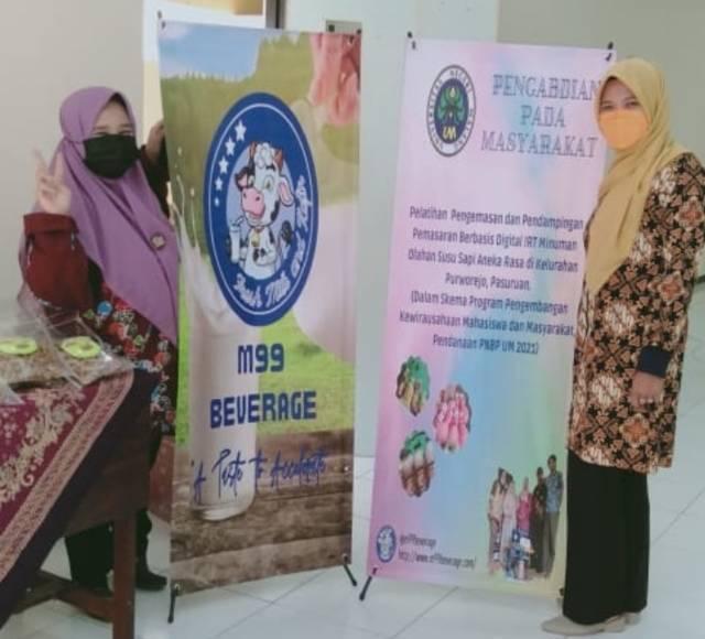 Tim Abdimas bekerja sama dengan M99 Beverage Pasuruan untuk menggelar pelatihan. (Foto: Dokumen/Tugu Jatim)