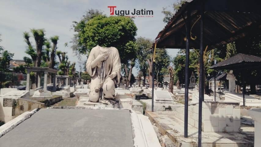Kompleks Pemakaman Peneleh Surabaya memiliki luas setidaknya 5,6 hektare. (Foto: Rangga Aji/Tugu Jatim)