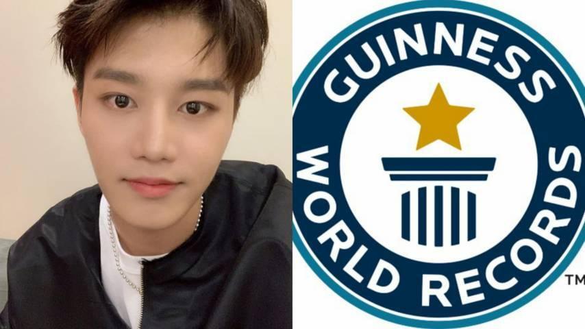 Postingan Instagram pertama Moon Taeil NCT. (Foto: IG resmi @mo.on_air dan Twitter Guinness World Records @GWR/Tugu Jatim)