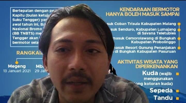 Bayu Eka, General Manager Tugujatim.id ketika menyampaikan materi pelatihan fotografi dalam pelatihan jurnalistik di SMAN 7 Kediri secara virtual, Rabu (21/7/2021). (Foto: Dokumen/Tugu Jatim)