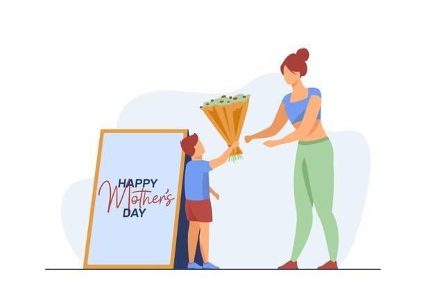 Ilustrasi anak memberikan hadiah kepada ibunya di Hari Ibu. (Foto: Freepik)