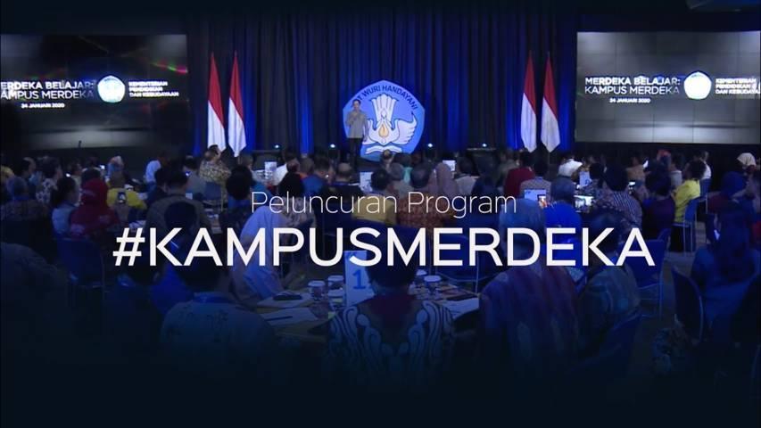 Program Kampus Merdeka yang diluncurkan Kemendikbud RI pada Januari 2020 lalu. (Foto: Dokumen/Kemendikbud)