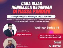 Tumbuhkan Literasi Keuangan Berhadiah E-Money Jutaan Rupiah, Yuk, Gabung Webinar Series Tugu Media Group X OJK Malang!
