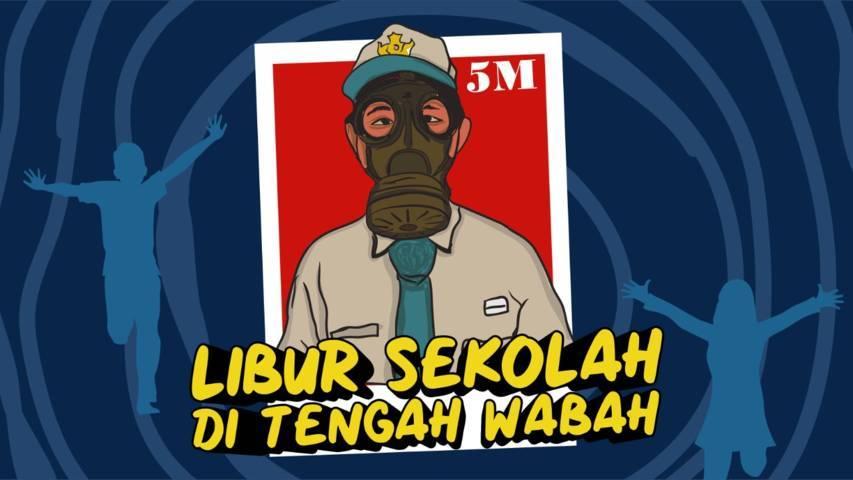 Ilustrasi liputan khusus Libur Sekolah di Tengah Wabah di Kabupaten Malang. (Ilustrasi: Dicky Hanafi/Tugu Jatim)