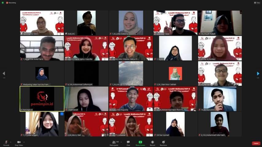 Para peserta pelatihan kepemimpinan yang mengikuti program Lead.ID yang merupakan program kolaborasi antara Pondok Inspirasi dan Pemimpin.id. (Foto: Dokumen/Pondok Inspirasi)