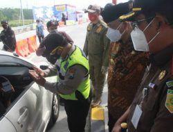 Sidak Posko Penyekatan Exit Tol Singosari: 2 Orang Positif Covid-19 dan 114 Kendaraan Putar Balik
