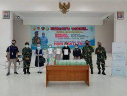 """Gandeng TNI AU Lanud Abd Saleh, Wardah Salurkan CSR Hand Gel pada Peserta """"Serbuan Vaksinasi"""""""