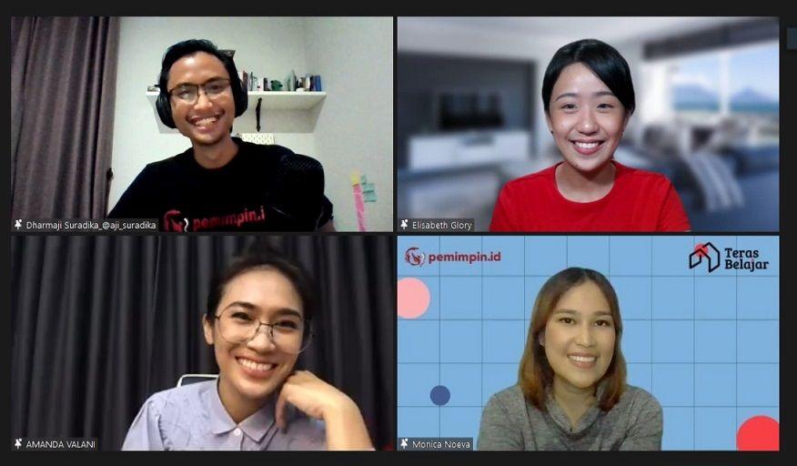 Tangkap layar acara webinar acara Teras Belajar seri ke 18 bersama dengan Narasi/tugu jatim